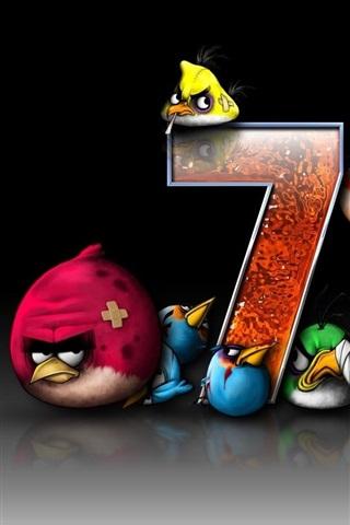 iPhone Papéis de Parede Angry Birds, Windows 7