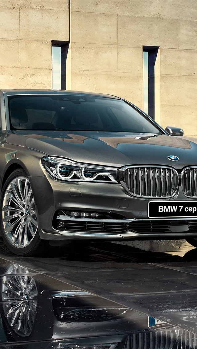 Bmw 7 Series G12 Grey Car Front View 640x1136 Iphone 5 5s 5c