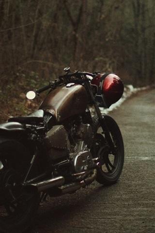 iPhone Wallpaper Bobber motorcycle