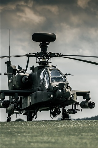 iPhone Wallpaper Boeing AH-64 Apache helicopters
