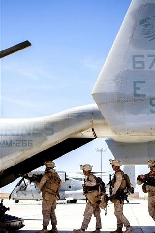 iPhone Wallpaper Boeing V-22 Osprey plane side view