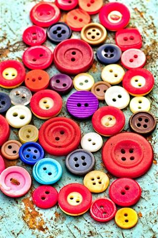 iPhone Wallpaper Buttons love heart
