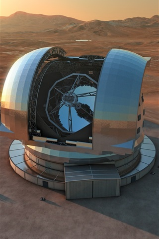 iPhone Wallpaper European extremely large telescope, science