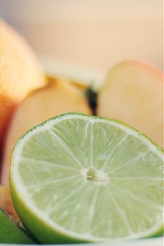 iPhone Wallpaper Fruit photography, lemon, apple, orange, banana