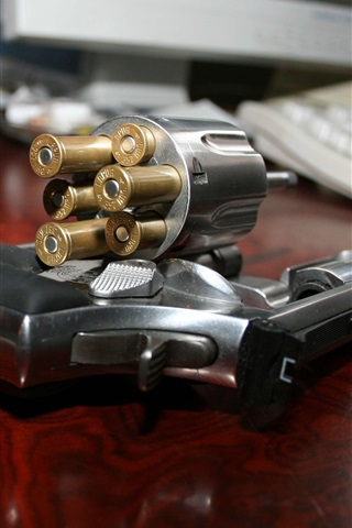 iPhone Wallpaper Gun, bullet, weapon