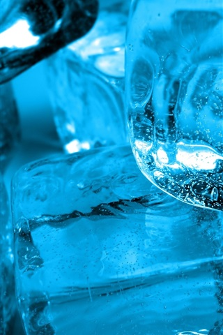 iPhone Wallpaper Ice cubes in water, cold drinks