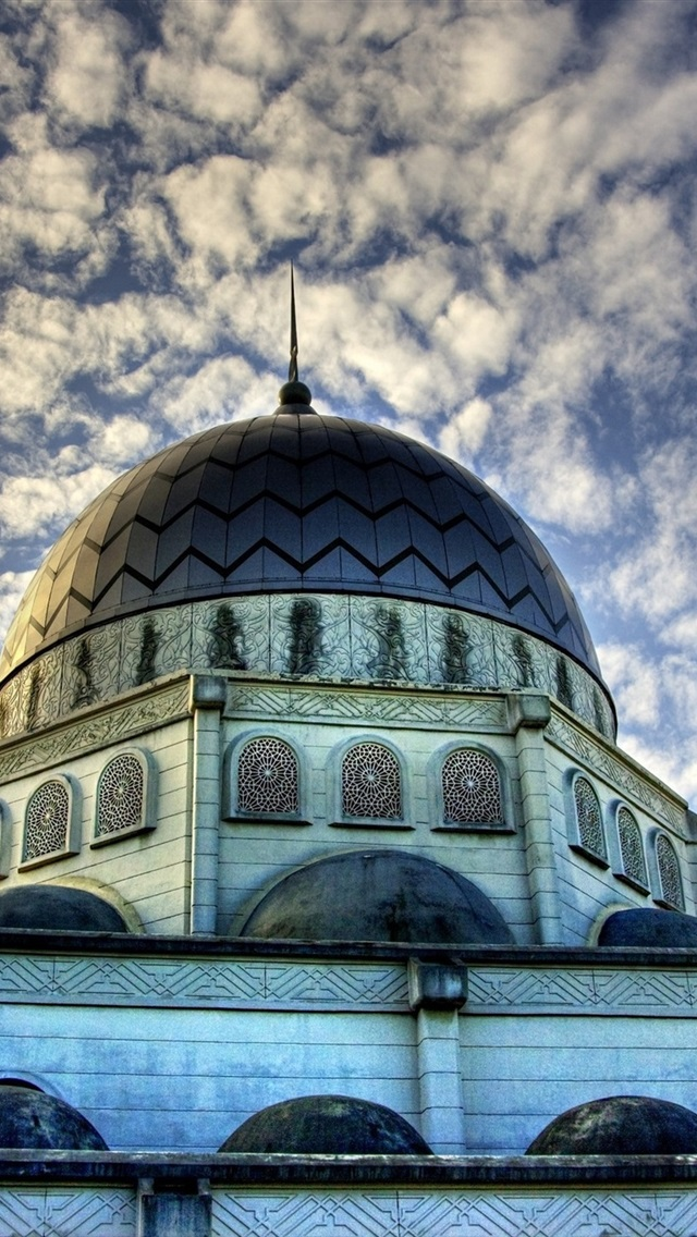 Islam Mosque Buildings Clouds Sky 750x1334 Iphone 8 7 6 6s Wallpaper Background Picture Image
