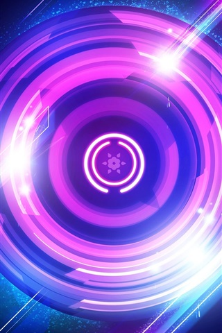 iPhone Papéis de Parede Círculos roxos, luz, sumário