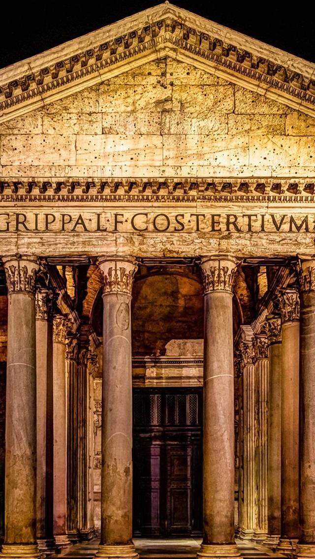 Rome Italy Palace Night 640x1136 Iphone 55s5cse