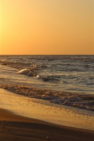 iPhone Wallpaper Sea, ocean, water, waves, beach