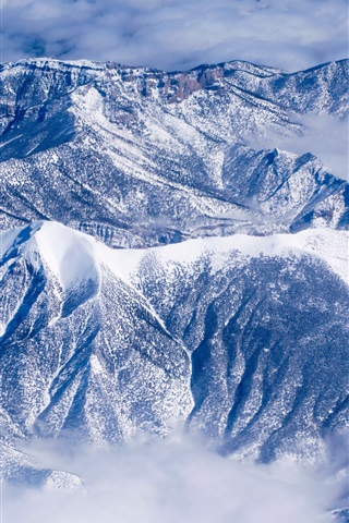 Winter Snow Mountains Clouds 1080x1920 Iphone 8 7 6 6s