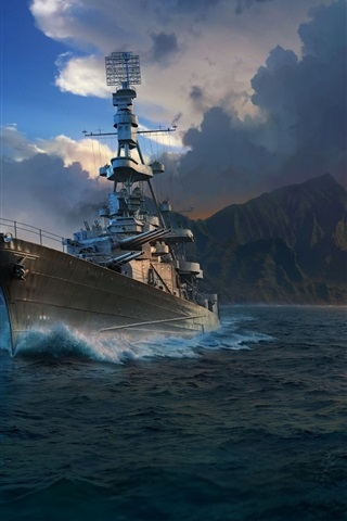 iPhone Wallpaper World of Warships, games HD