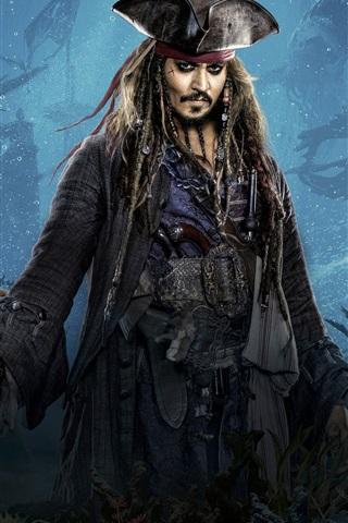 iPhone Papéis de Parede 2017 filme da Disney, Piratas do Caribe: Os homens mortos não contar nenhum conto
