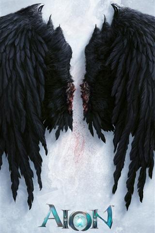 iPhone Обои Aion, черные крылья