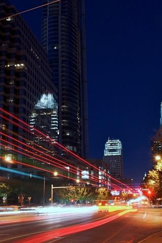 Wallpaper Austin Texas Usa City Night Road Lights