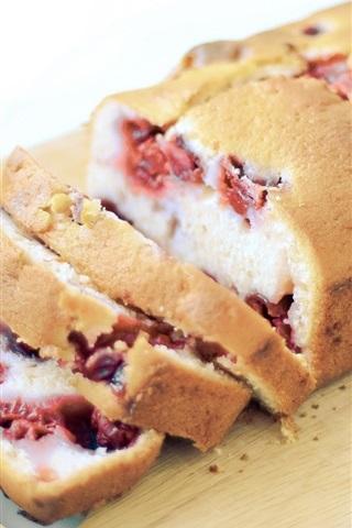 iPhone Wallpaper Breakfast food, cake, berries