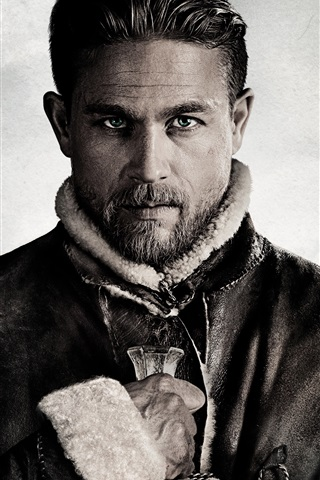iPhone Wallpaper Charlie Hunnam, King Arthur: Legend of the Sword