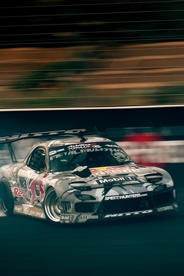Cool Race Car Drift Speed 640x960 Iphone 4 4s Wallpaper