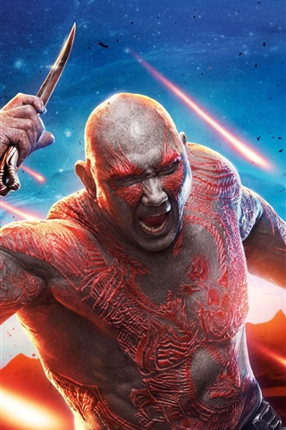 iPhone Wallpaper Dave Bautista, Guardians of the Galaxy Vol. 2