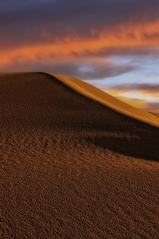iPhone Wallpaper Desert, dunes, clouds, dusk