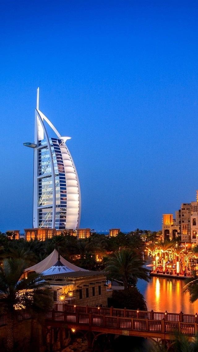 Dubai City Night Villa Lights 640x1136 Iphone 5 5s 5c Se