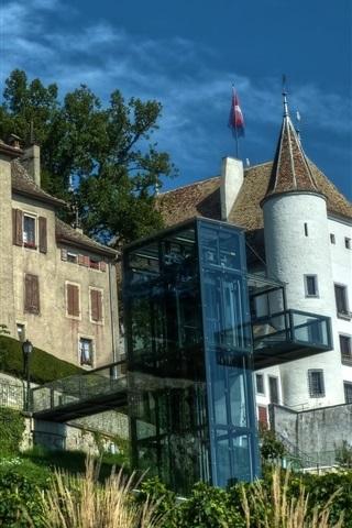 iPhone Wallpaper Geneva, Switzerland, palace