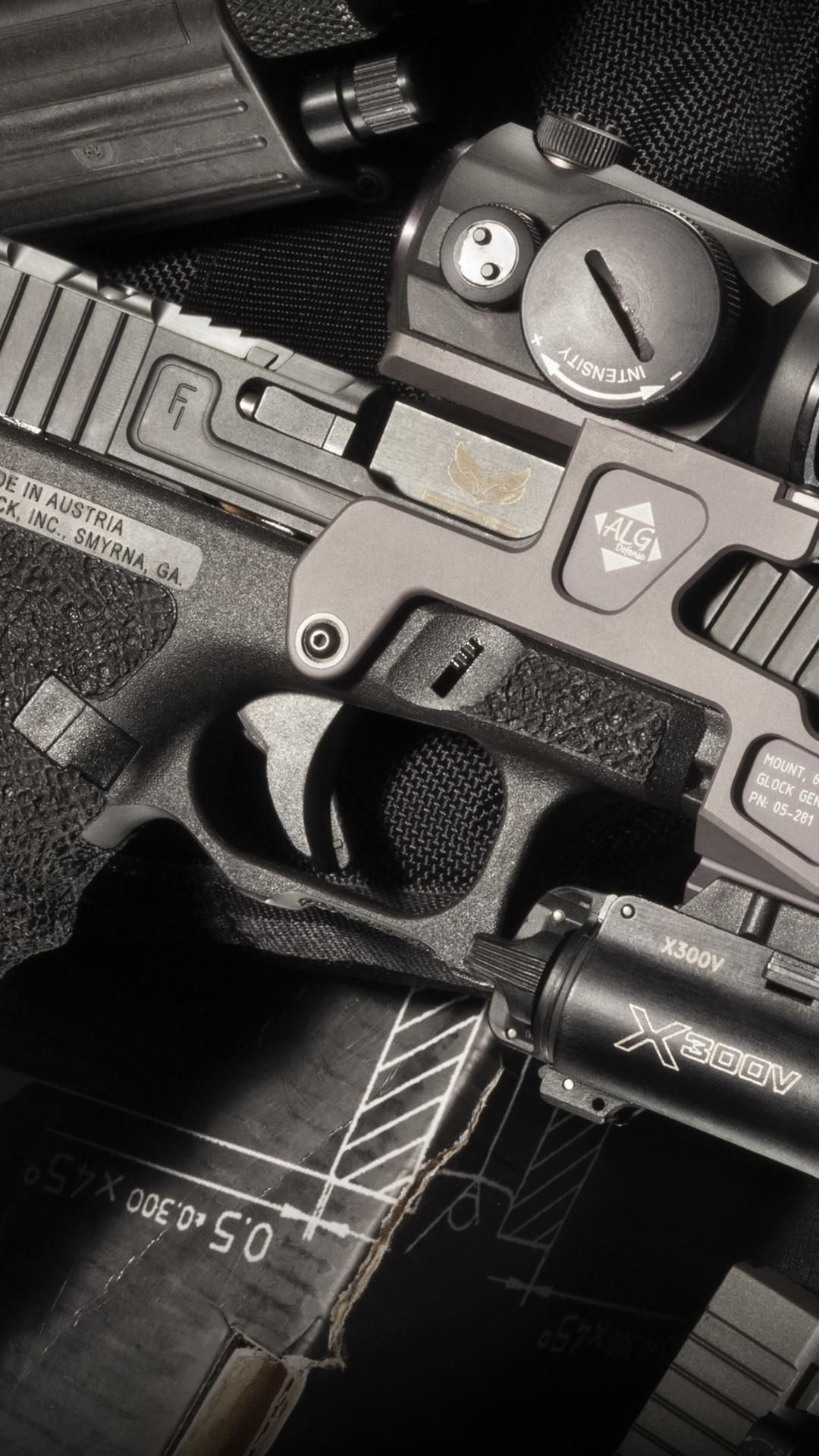 Glock 17 self-loading gun, weapon