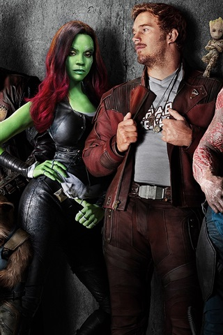 iPhone Wallpaper Guardians of the Galaxy 2, Marvel movie 2017