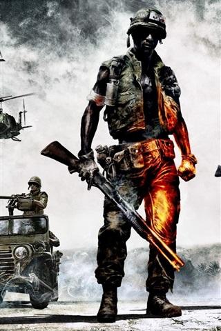 iPhone Wallpaper Hot games, Battlefield: Bad Company 2