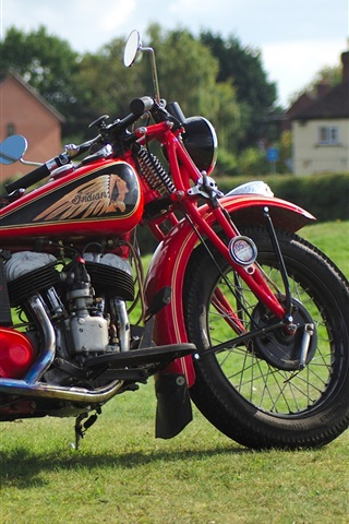 iPhone Wallpaper Indian red motorcycle