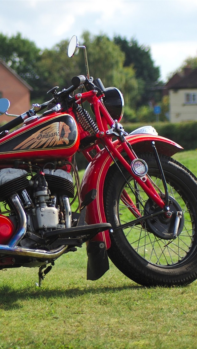 Wallpaper Indian Red Motorcycle 1920x1200 Hd Picture Image