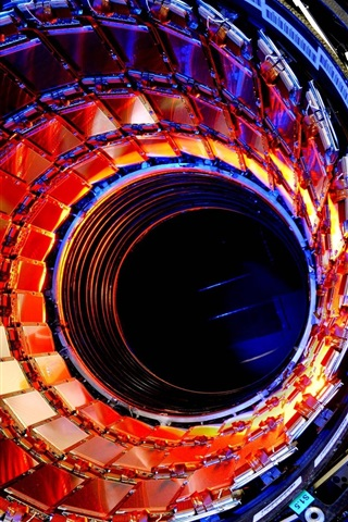 iPhone Wallpaper Large hadron collider, particle, technology