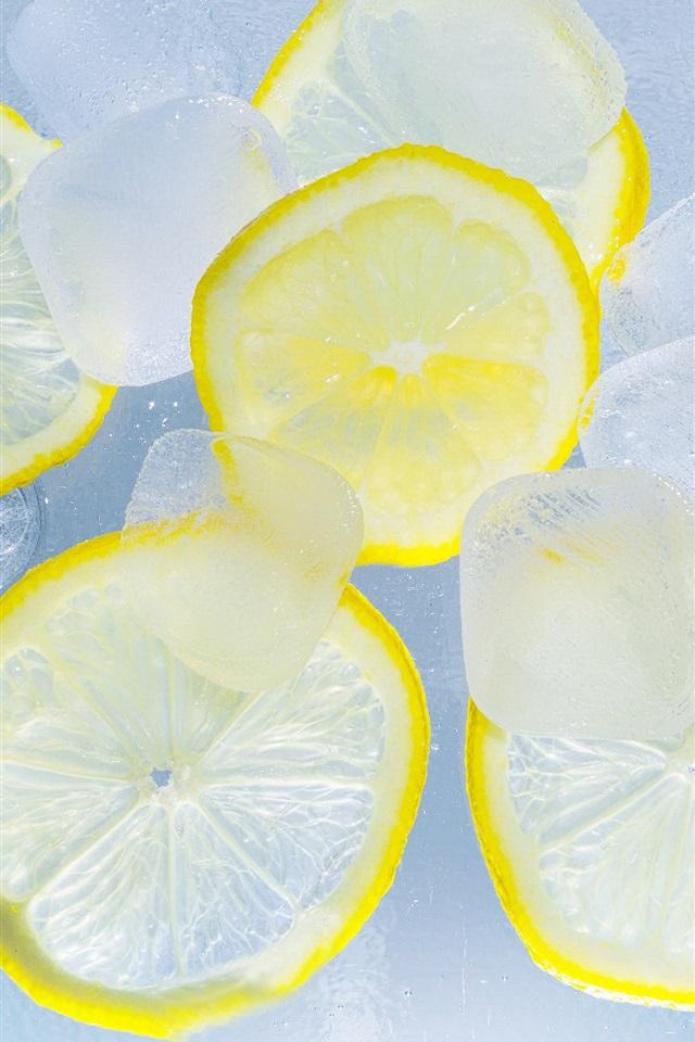 壁纸 柠檬切片,冰,水 3840x2160 UHD 4K 高清壁纸, 图片, 照片