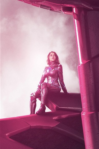 iPhone Wallpaper Naomi Scott, Power Rangers