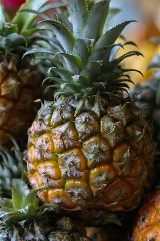 Pineapple fruit close