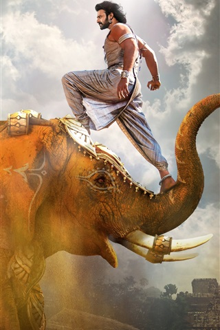 iPhone Wallpaper Prabhas, Baahubali 2: The Conclusion