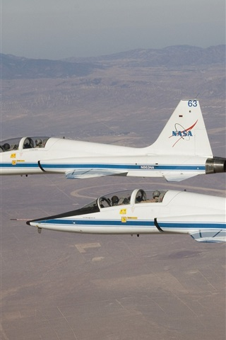 iPhone Wallpaper Supersonic jet, white aircraft, Talon, Northrop T-38A