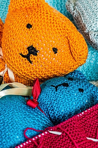 iPhone Wallpaper Teddy bears toys