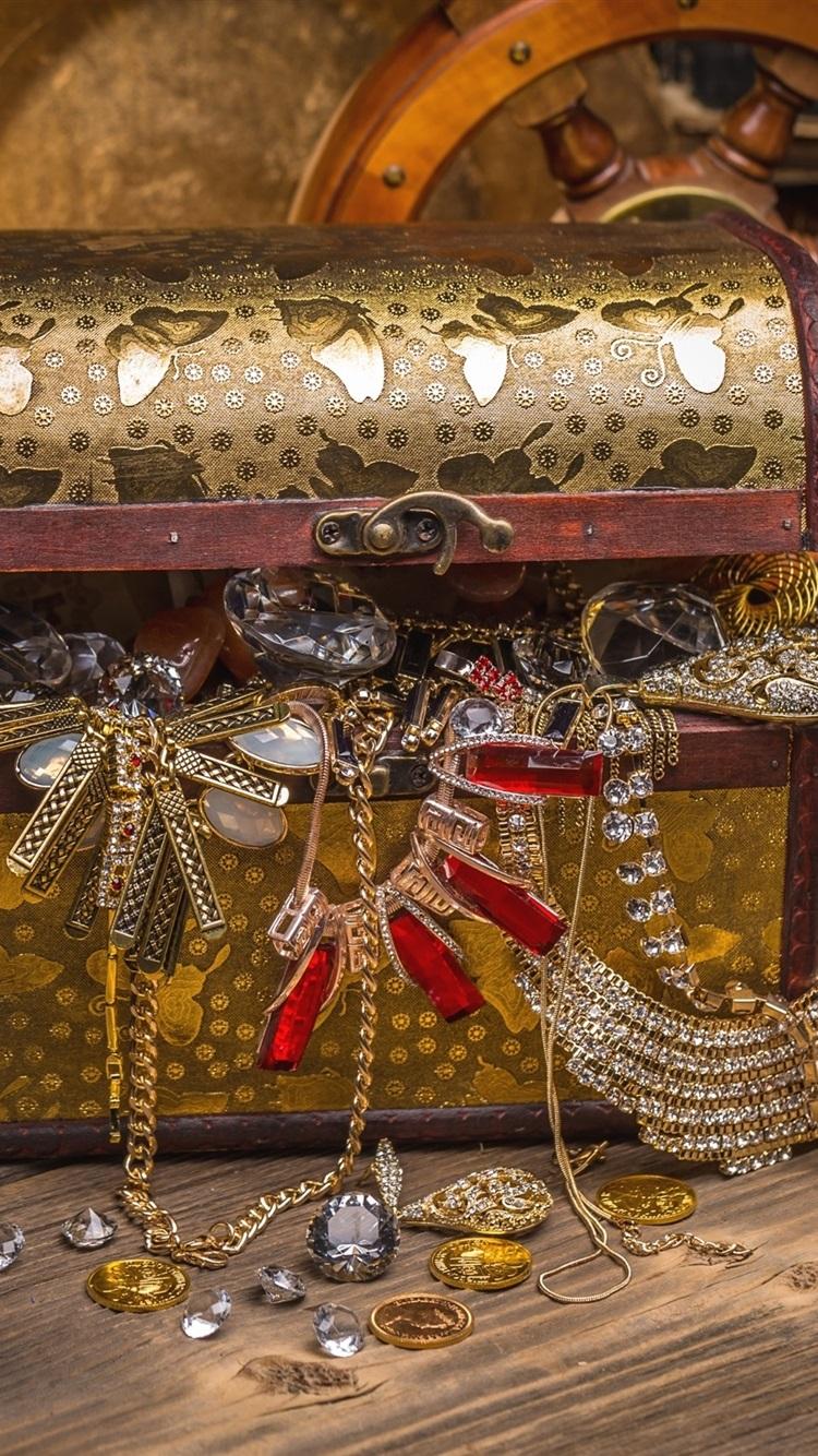 Treasure Box Jewelry Decoration Candle 750x1334 Iphone 8