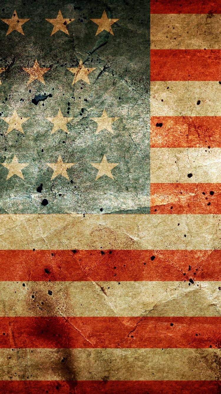 アメリカの国旗 750x1334 Iphone 8 7 6 6s 壁紙 背景 画像