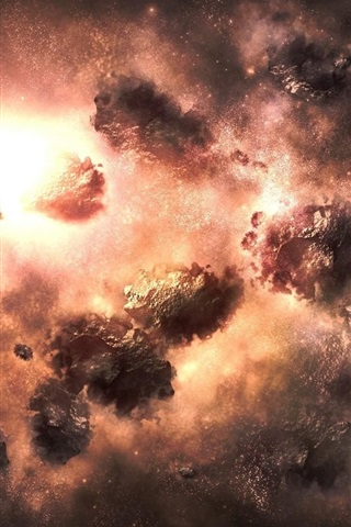iPhone Wallpaper Universe, space, nebula explosion