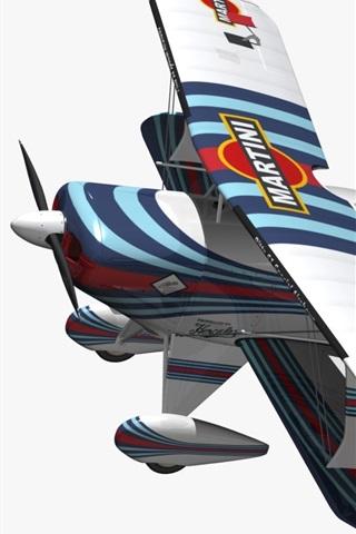 iPhone Wallpaper 3D biplane aircraft