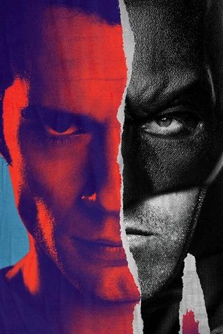iPhone Hintergrundbilder Batman v Superman, Comics, Kunst