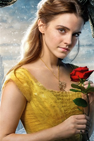 iPhone Wallpaper Beauty and the Beast 2017, Emma Watson