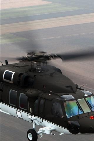 iPhone Wallpaper Black Hawk S-70i helicopter flight