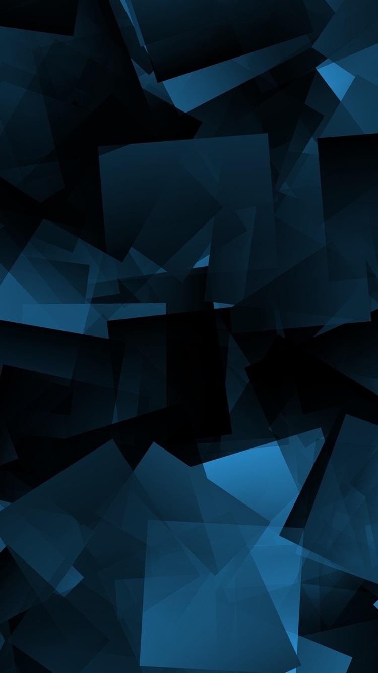 壁纸 蓝色形状,抽象,黑色背景 3840x2160 Uhd 4k 高清壁纸 图片 照片