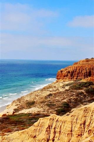 iPhone Wallpaper Chile, sea, coast, mountains