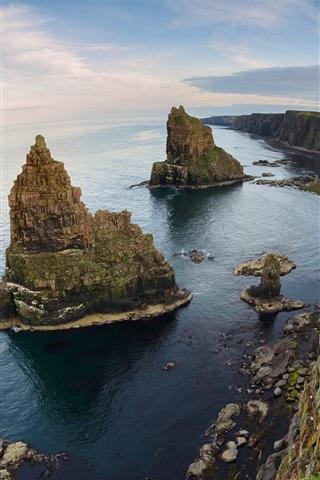 iPhone Wallpaper Coast, sea, cliff