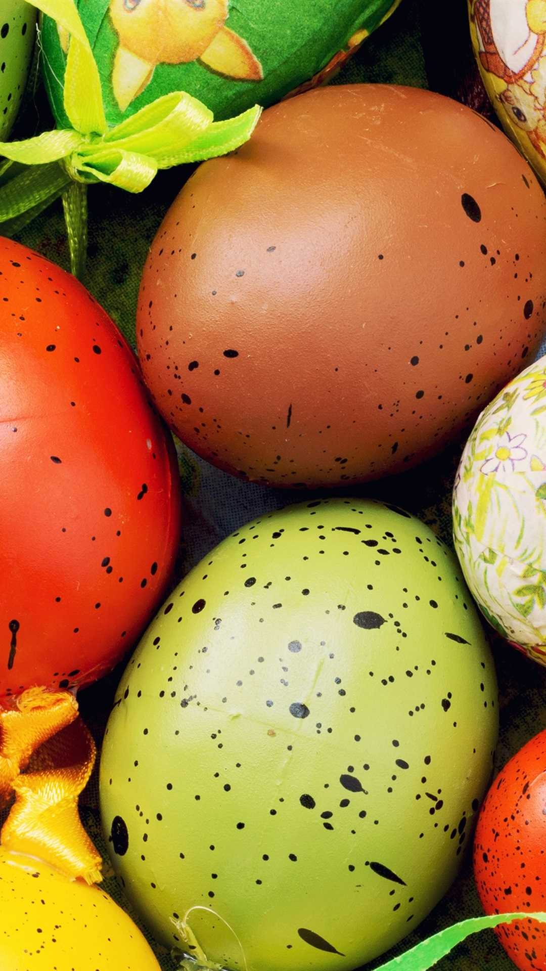 Colorful Eggs Close Up Happy Easter 1080x1920 Iphone 8 7 6 6s