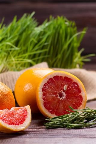 iPhone Wallpaper Grapefruit, drinks